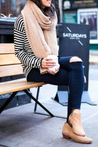 fall outfit ankle boots