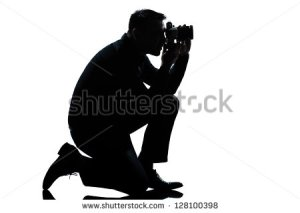 photographer kneeling